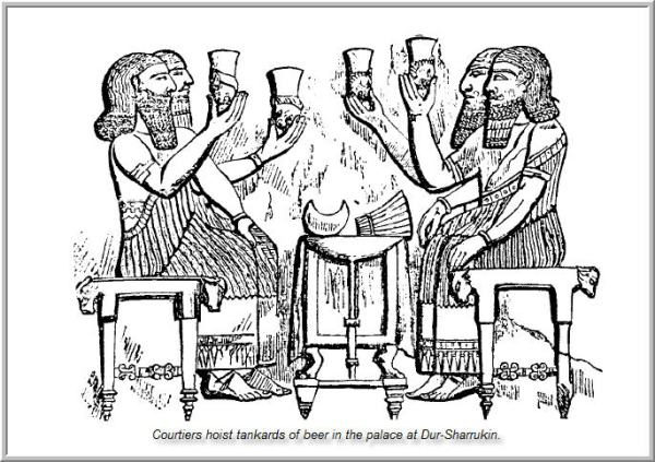 Mesopotamia-Food-and-Drink-beer-drunkers