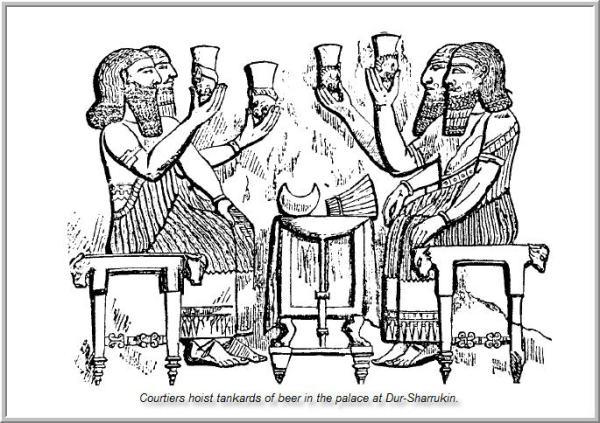 Mesopotamia-Food-and-Drink-beer-drunkers